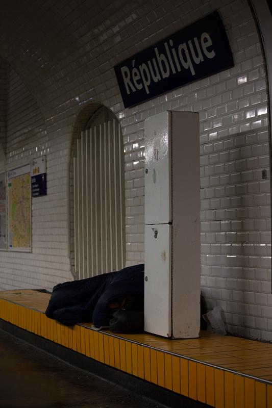 Station République, sans domicile fixe, 2015 – 2016